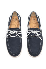 Canvas deck shoes - Dark blue - Men | H&M CN 2