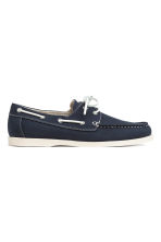 Canvas deck shoes - Dark blue - Men | H&M CN 1
