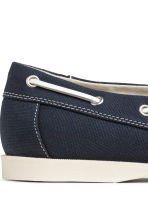 Canvas deck shoes - Dark blue - Men | H&M CN 4