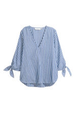 Striped blouse - Blue/White/Striped - Ladies | H&M CN 2