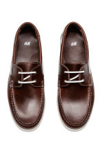 Scarpe da barca in pelle - Marrone scuro - UOMO | H&M IT 2