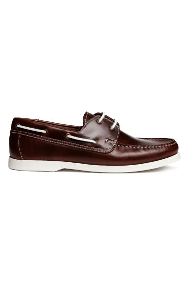 Scarpe da barca in pelle - Marrone scuro - UOMO | H&M IT 1