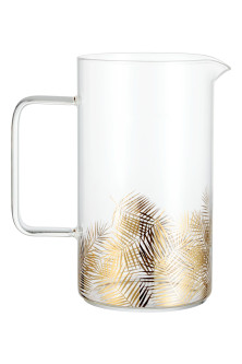 Printed glass jug