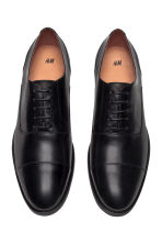 Leather Oxford shoes - Black - Men | H&M CN 2