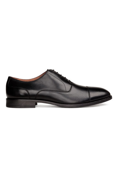 Leather Oxford shoes - Black - Men | H&M CA 1
