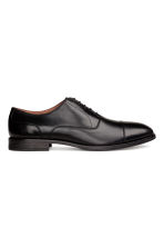 Leather Oxford shoes - Black - Men | H&M CN 1