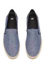 帆布草編鞋 - Dark blue marl - Men | H&M 2