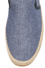 Canvas espadrilles - Dark blue marl - Men | H&M CN 3