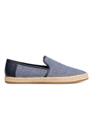 Canvas espadrilles - Dark blue marl - Men | H&M CN 1