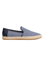 Canvas espadrilles - Dark blue marl - Men | H&M 1