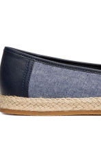 Canvas espadrilles - Dark blue marl - Men | H&M CN 4