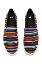 Canvas espadrilles - Black/Striped - Men | H&M CN 3