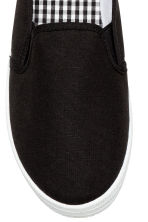 Slip-on canvas trainers - Black - Ladies | H&M 3
