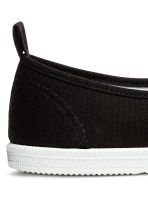 Slip-on canvas trainers - Black - Ladies | H&M 4