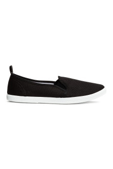 Slip on-sneakers i canvas