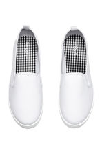 Slip-on canvas trainers - White - Ladies | H&M 2