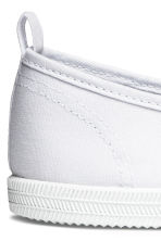 Slip-on canvas trainers - White - Ladies | H&M 4