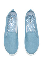 Slip-on canvas trainers - Denim blue -  | H&M 2