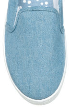 Slip-on canvas trainers - Denim blue - Ladies | H&M 3
