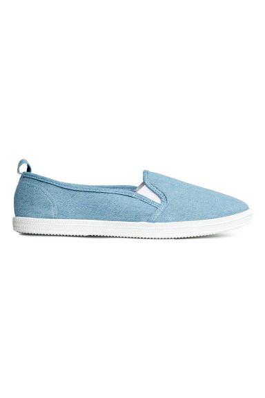 Slip-on canvas trainers - Denim blue - Ladies | H&M 1
