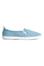 Slip-on canvas trainers - Denim blue -  | H&M 1