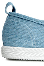 Slip-on canvas trainers - Denim blue -  | H&M 4