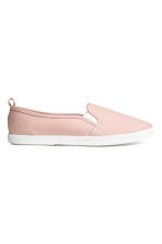 Slip-on canvas trainers - Pink - Ladies | H&M 1