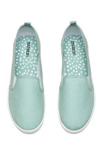 Slip-on sneakers van canvas - Mintgroen - DAMES | H&M BE 2