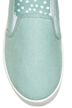 Slip-on sneakers van canvas - Mintgroen - DAMES | H&M BE 3
