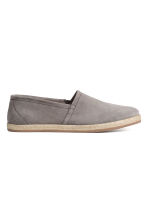 Suede espadrilles - Grey - Men | H&M CN 1