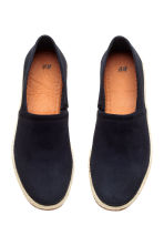 Suede espadrilles - Dark blue - Men | H&M CN 2
