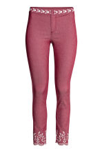 Embroidered trousers - Vintage pink - Ladies | H&M CN 2