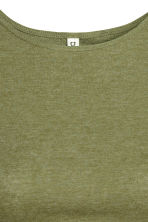 Cropped T-shirt - Khaki green - Ladies | H&M 3