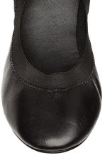 Leather ballet pumps - Black - Ladies | H&M CN 4