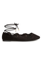 Ghillie flats - Black - Ladies | H&M CN 1