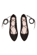 Ghillie flats - Black - Ladies | H&M CN 2
