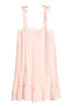Sleeveless dress with lace - Powder pink - Ladies | H&M CN 2