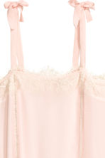 Sleeveless dress with lace - Powder pink - Ladies | H&M CN 3