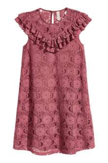 Frilled lace dress