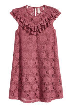 Frilled lace dress - Vintage pink - Ladies | H&M 3