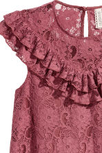 Frilled lace dress - Vintage pink - Ladies | H&M 4