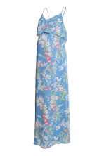 MAMA Chiffon dress - Blue/Floral - Ladies | H&M CN 2