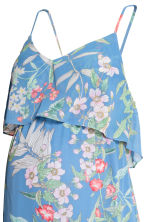 MAMA Chiffon dress - Blue/Floral - Ladies | H&M CN 3