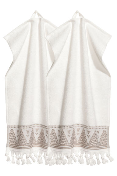2-pack guest towels - White - Home All | H&M CN 1