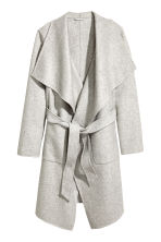 Wool-blend coat - Light grey - Ladies | H&M CN 2