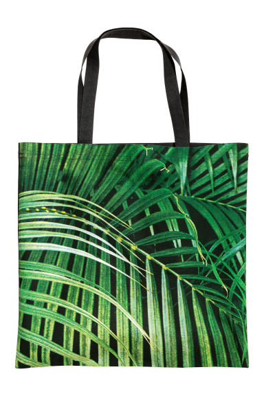 Sac de plage à motif - Vert/feuille - Home All | H&M FR 1