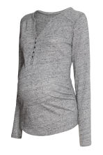MAMA Top in jersey mélange - Grigio mélange - DONNA | H&M IT 2