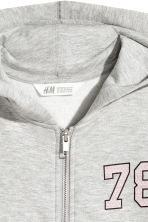 Hooded jacket - Grey marl - Kids | H&M 3