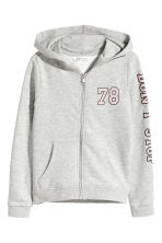 Hooded jacket - Grey marl - Kids | H&M CN 2