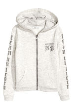 連帽外套 - Light beige marl -  | H&M 2